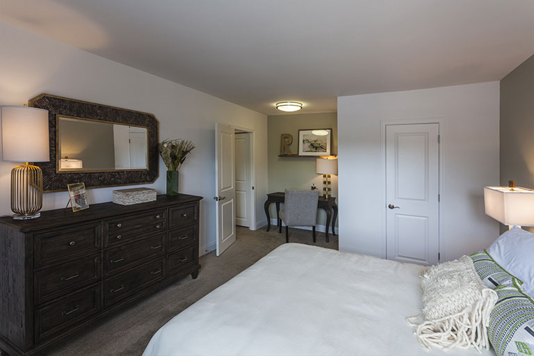 Bedroom interior of Doylestown apartment at Regency Woods